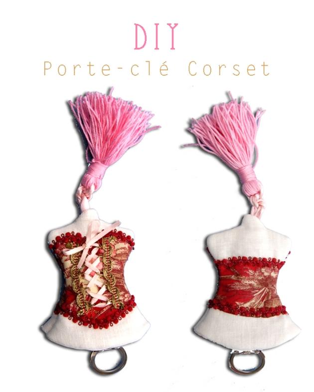 DIY porte clé corset copie