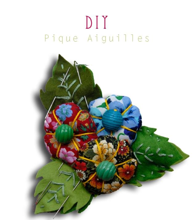 DIY pique aiguille fleur