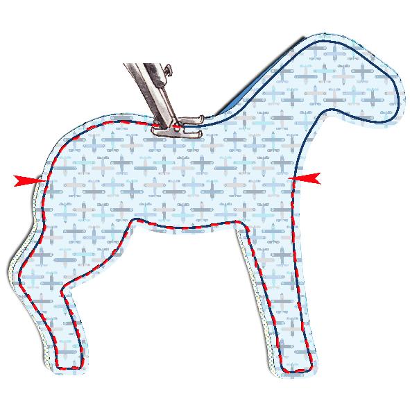 tuto doudou cheval 11