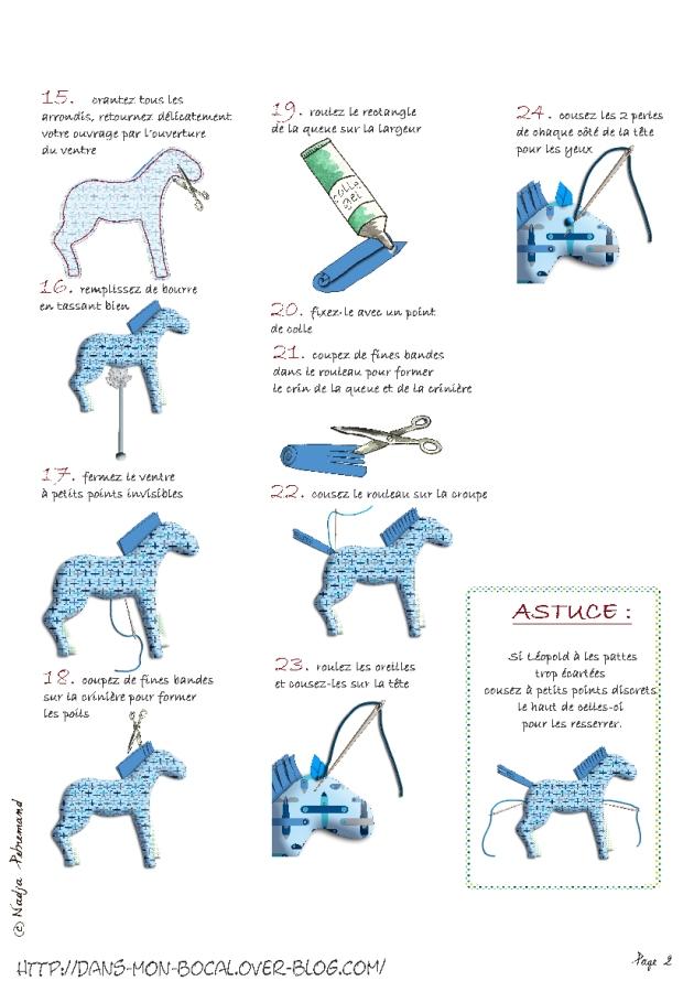 tutoriel gratuit doudou cheval p2