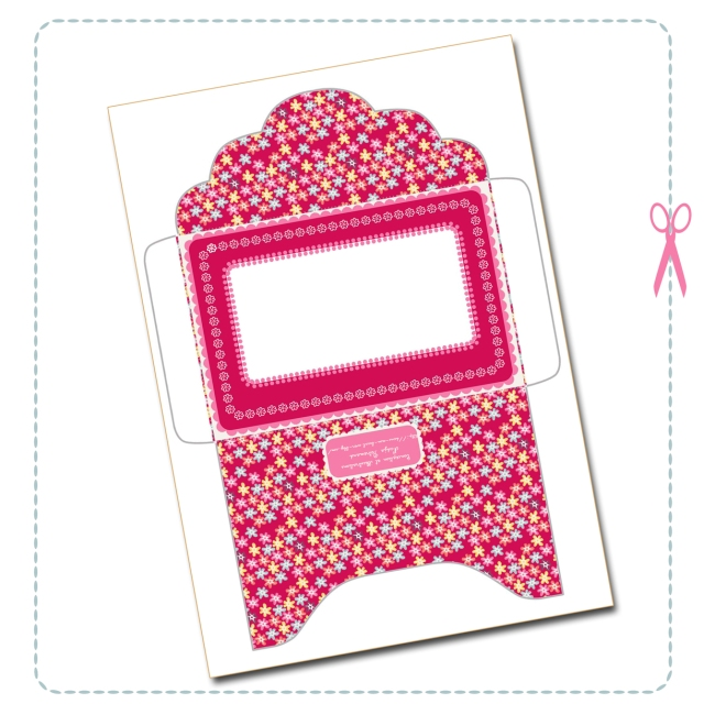 free printable envelope valentine card 1