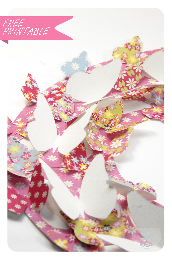 free printable butterfly wreath 4
