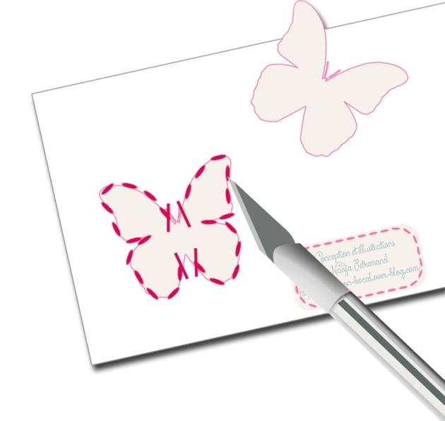 tuto découpe photophore papillon