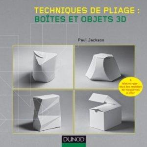 technique de pliage boites et objets 3D