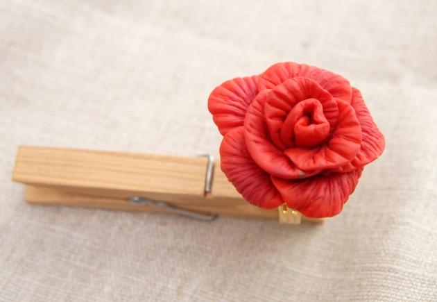 bague rose rouge 5