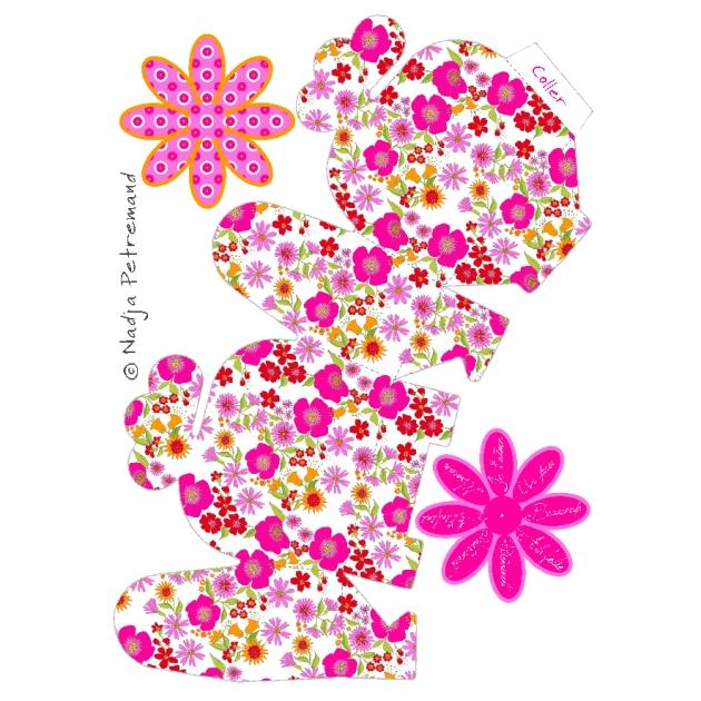 boite cadeau fleurie à imprimer gratuitement