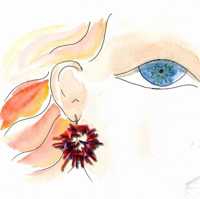boucles d'oreilles en chute de feutrine