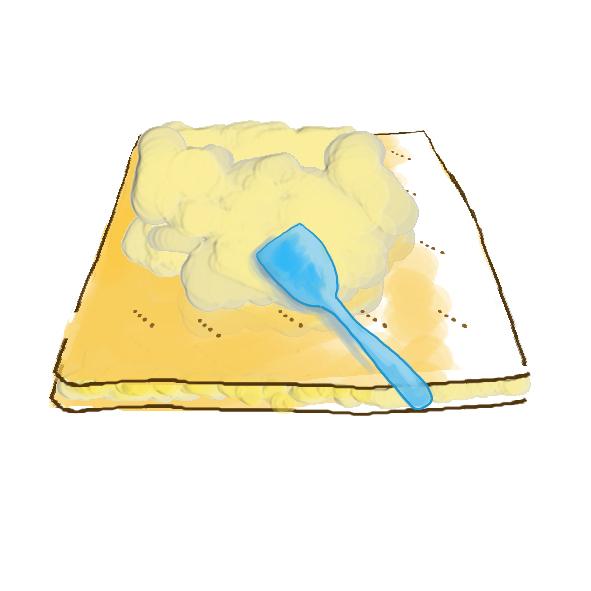 étalez la crème pâtissière 2