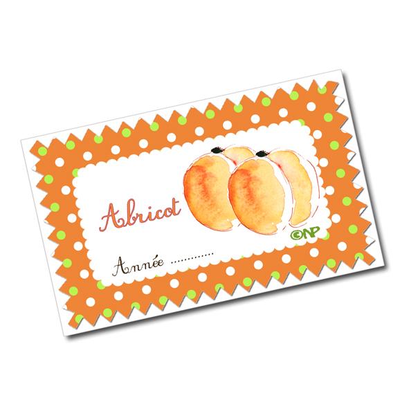 Tiquettes pour confiture d abricot et de menthe abricot - Confiture d abricots maison ...