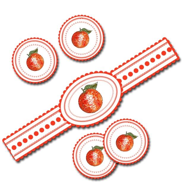 étiquette confiture de d'orange à imprimer gratuitement