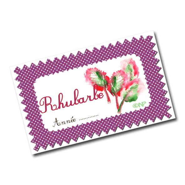 étiquette confiture de rhubarbe à imprimer gratuitement