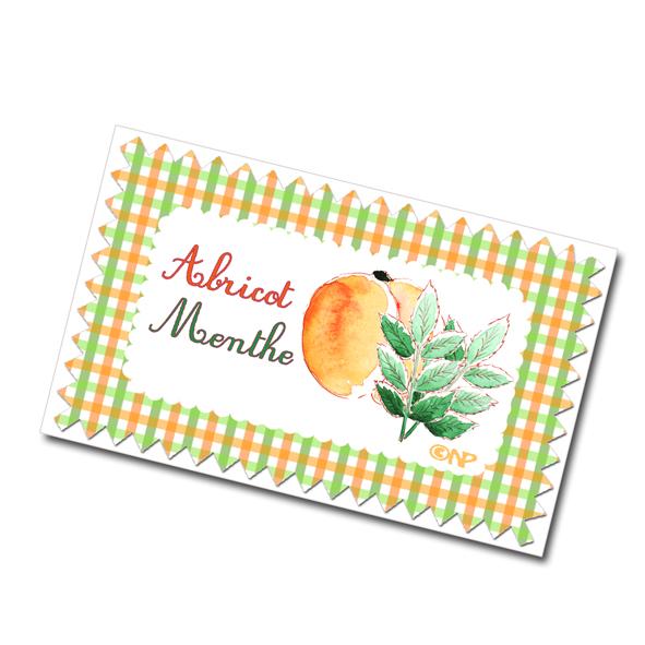 étiquette confiture menthe abricot à imprimer gratuitement