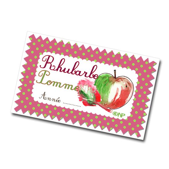 étiquette confiture pomme rhubarbe à imprimer gratuitement