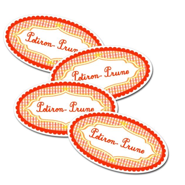 étiquette confiture potiron prune à imprimer gratuitement-free pintable label jam