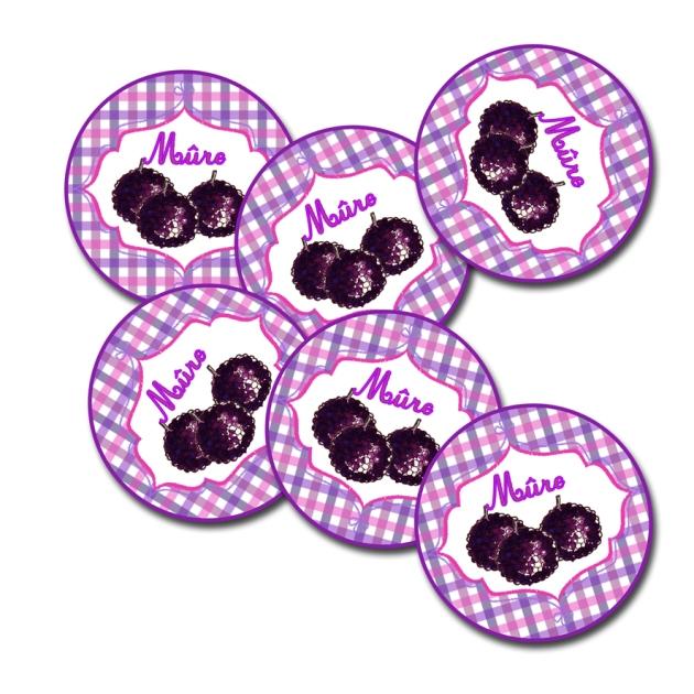 étiquette confiture ronde mure à imprimer gratuitemnet-free printable label jam