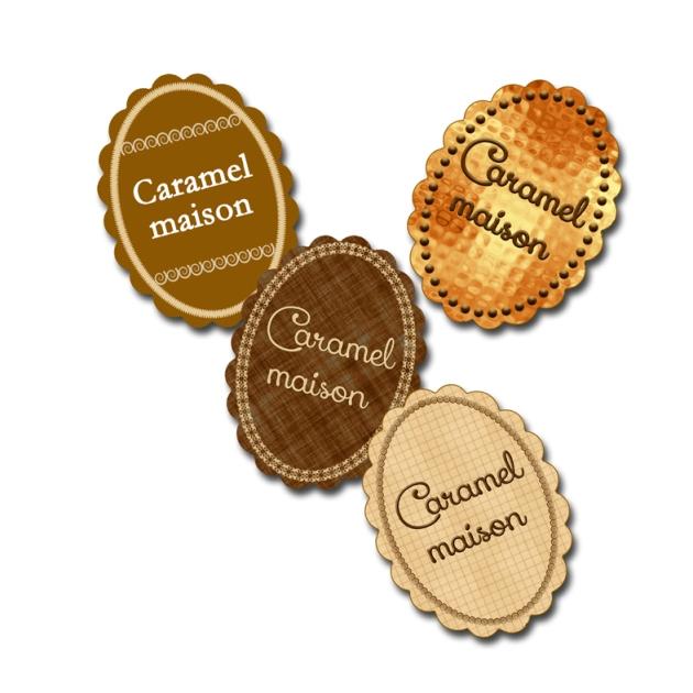 étiquette gratuite caramel liquide maison
