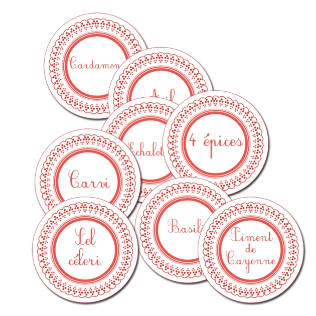 étiquette pour pot à épice à imprimer gratuitement rouge-free printable spice label -