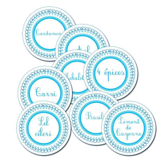 étiquette pour pots à épices à imprimer gratuitement - free printable spice label