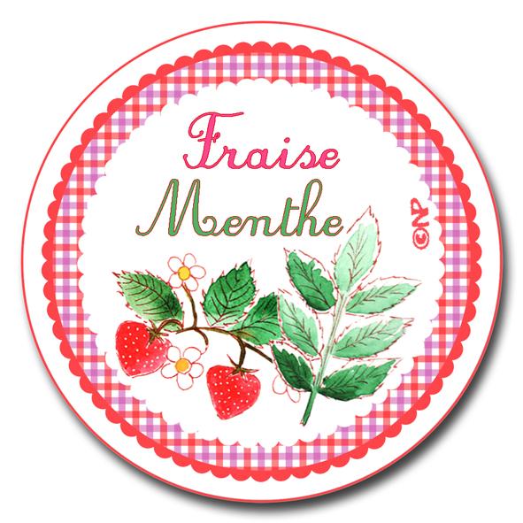 étiquette ronde confiture de fraise menthe à imprimer gratuitemnet  copie