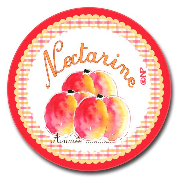 étiquette ronde confiture nectarine à imprimer gratuitemnet