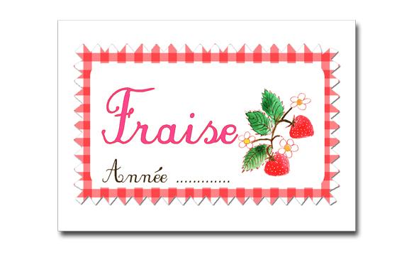 étiquettes confiture fraise à imprimer gratuitement