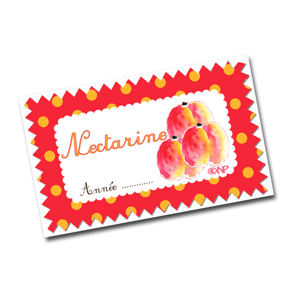 étiquettes confiture nectarine à imprimer gratuitement