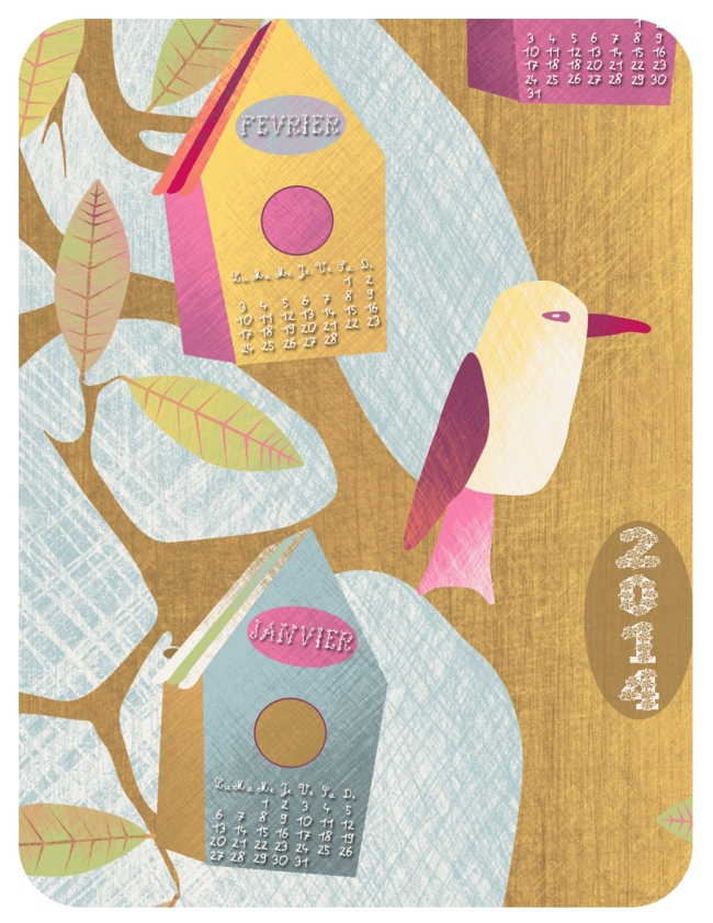calendar 2014 happy birds detail 2 copie