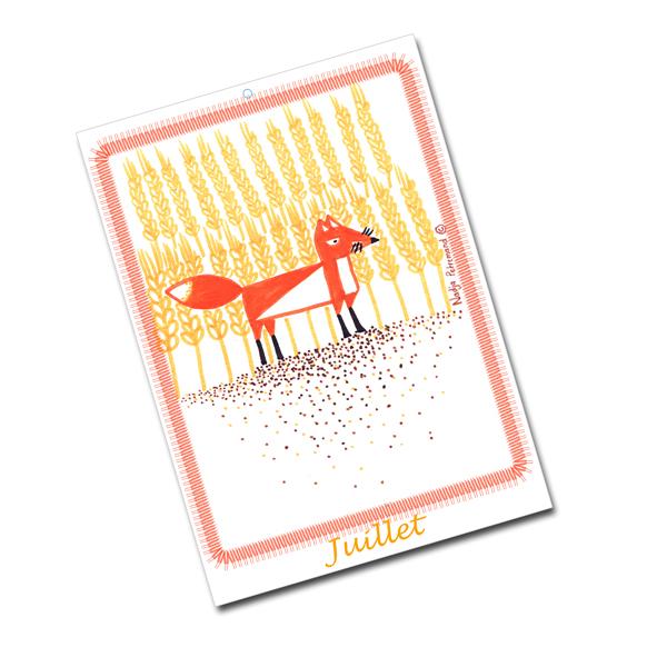 calendrier 2012 2013 à imprimer gratuitement juillet illustration- free printable calendar 2012 2013