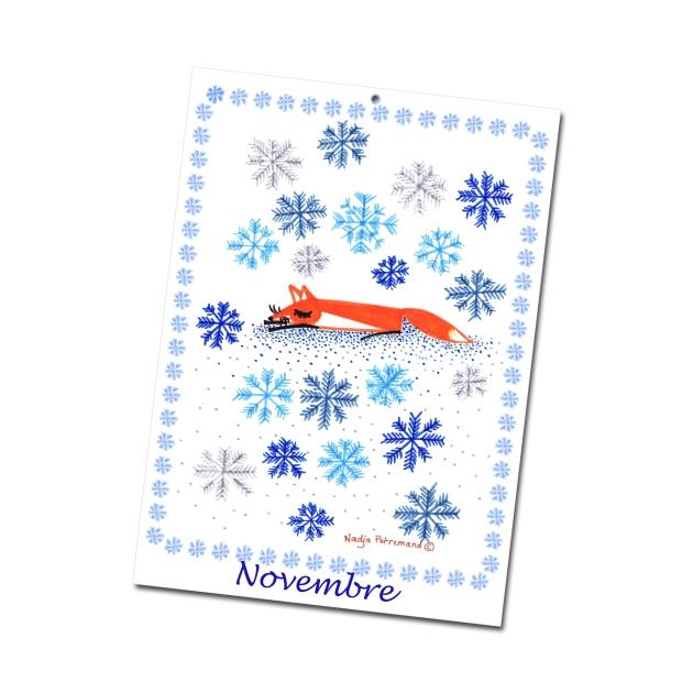 calendrier 2012 2013 à imprimer gratuitement novembre illustration- free printable calendar 2012 2013
