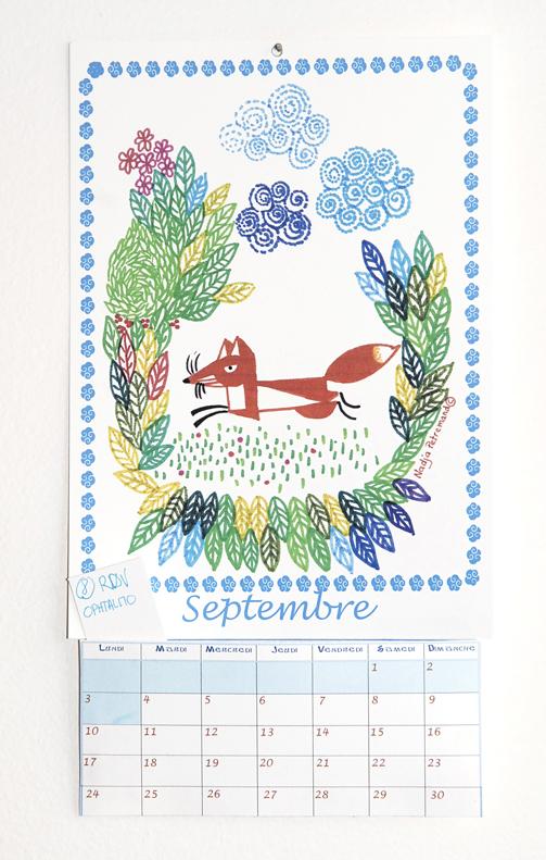 calendrier 2012 2013 à imprimer gratuitement septembre illustration 1