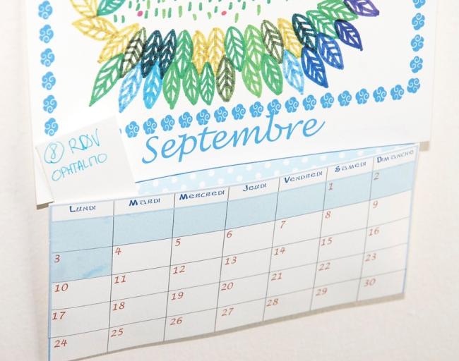 calendrier 2012 2013 à imprimer gratuitement septembre illustration 2