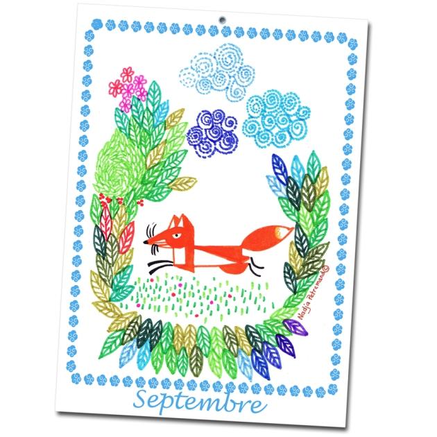 calendrier 2012 2013 à imprimer gratuitement septembre illustration