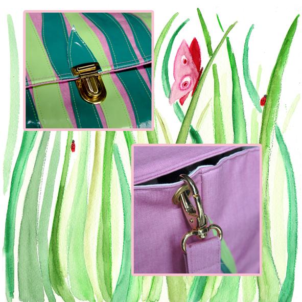cartable fleuri détail 3