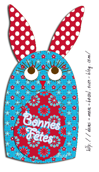 carte lapin de pâques 2011
