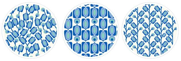 collection tissu motif mod bleu