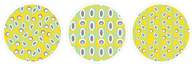 collection tissu motif mod jaune