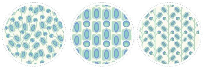 collection tissu motif mod vert amande