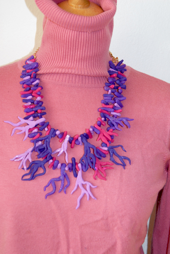 collier corail fimo multicolore 1