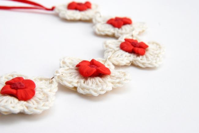 collier crochet et fimo