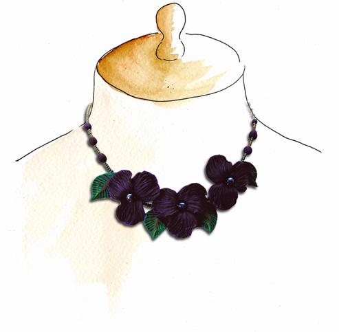 collier de violette