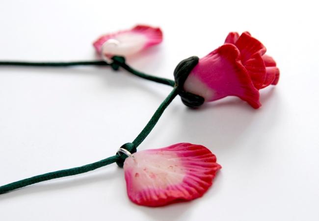 collier pendentif fleur en fimo 6
