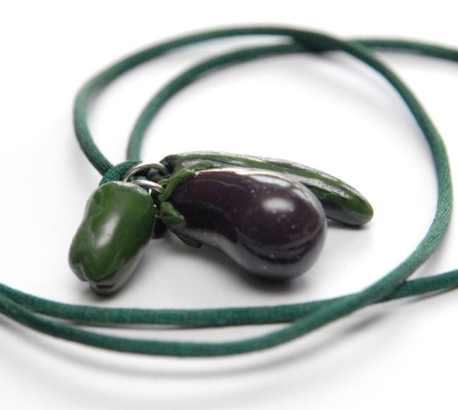 collier pendentif légume fimo