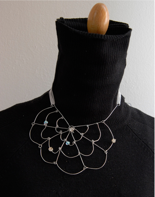 collier toile d'araignée