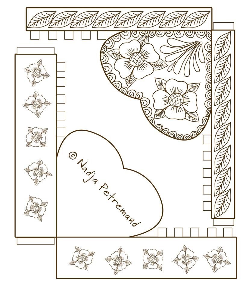 des boites cadeaux coeur colorier dans mon bocal. Black Bedroom Furniture Sets. Home Design Ideas