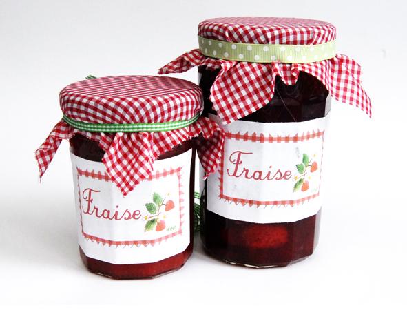 Etiquettes pour confiture de fraise rhubarbe et fraise - Confiture de fraise maison ...