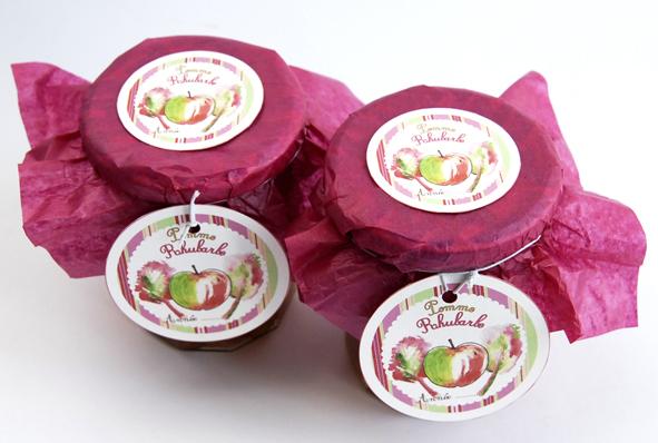 confiture de pomme rhubarbe maison 1