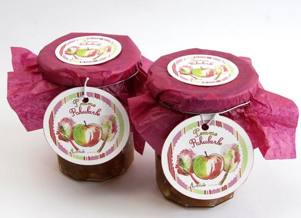 confiture de pomme rhubarbe maison 2