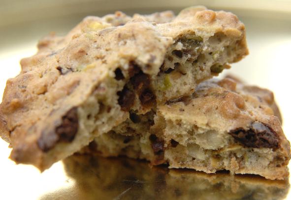cookies pistache 2 chocolats