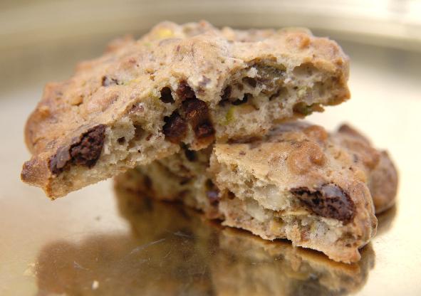 cookies pistache  chocolats