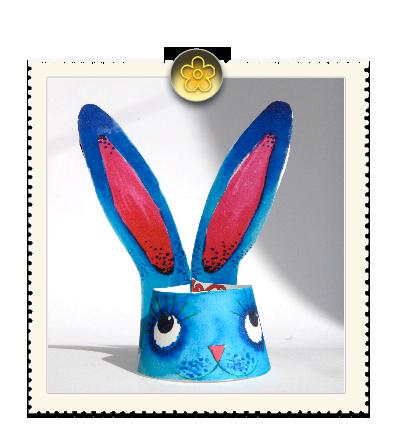 coquetier lapin de pâques à imprimer